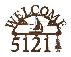 Front Door - Sailboat Address Sign