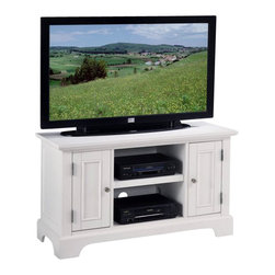 Home Styles - Home Styles Naples Wood TV Stand Cabinet in Multi-Step White Finish - Home Styles - TV Stands - 553009 - Transitional styling features clean simple lines and comfortable functional design.