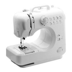 Michley Electronics - Desktop Sewing Machine - Desktop sewing machine with double thread double speed forward and reverse sewing sleeves sewing 8 built-in stitch patterns automatic thread rewind adjustable stitch width drawer included built-in sew light and thread cutter.