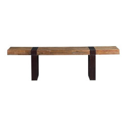 Seguro Coffee Table | Crate&Barrel - No two of these reclaimed wood coffee tables are exactly alike, and the combination of mahognoy and peroba wood makes one do a double-take when you take in its very balanced coloring and proportions.