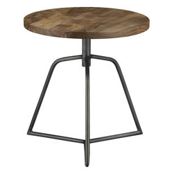 Dot Acacia Side Table/Stool - This is a fun piece to have as an end table.