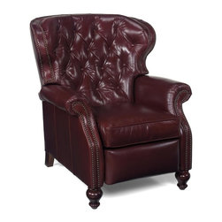 EuroLux Home - New Chair Wood Leather No Nailhead Trim - Product Details