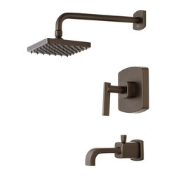 Belle Foret - Belle Foret BFTS400ORB One Handle Tub and Shower Faucet in Oil Rubbed Bronze - H - Belle Foret BFTS400ORB One Handle Tub and Shower Faucet in Oil Rubbed Bronze - HDModel: F1AA4703ORBThe Belle Foret collection includes a full range of kitchen and bath faucets, copper basins, bathtubs, and bath vanities in timeless finishes to perfectly complement any décor. True to the Country French design, these distinctively elegant faucets and fixtures are graced by the rich patina of time - without the wait or expense.This Belle Foret Tub & Shower faucet is the perfect choice for your bathroom makeover. Its modern design will add a sleek look to your bathroom. Matching bath accessories are available.Belle Foret BFTS400ORB One Handle Tub and Shower Faucet in Oil Rubbed Bronze - HDModel: F1AA4703ORB, Features:• Tub and Shower Faucet