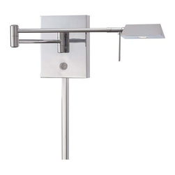 Kovacs - Kovacs P4318-077 LED Swing Arm Wall Sconce - Kovacs P4318-077 LED Swing Arm Wall SconceWhether relaxing with a fine novel or reading an important business document, task lighting provides  the necessary illumination for understanding. This LED swing arm wall lamp is a beautiful and versatile choice for task lighting in the bedroom, living room, study, or home office. The built in swing arm extends in all directions wherever light is needed from a minimum of 5 inches to 23.5 inches from the wall. The stylish chrome finish and elongated triangular shade makes for a beautiful addition to any room.Kovacs P4318-077 Features: