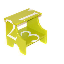 Fall/Winter 2013 - Step stool in modern design and hottest colors. Great gift for baby shower or new baby or special birthday. Bright cheery colors hand painted with fun, clean, modern design. sturdy, hand made. Great for bathroom or kitchen.