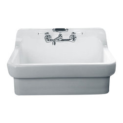 "American Standard - Country Kitchen Sink with 8"" Centers in White - American Standard 9062.008.020 Country Kitchen Sink with 8"" Centers in White."