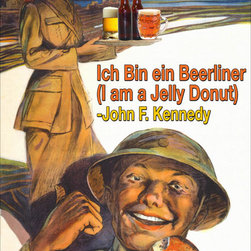 Buyenlarge - Ich Bin Einer Berliner - I am a Jelly Donut 12x18 Giclee on canvas - Series: Alcohol