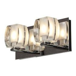 Access Lighting - Evia 2-lt Crystal Vanity - Evia 2-lt Crystal Vanity