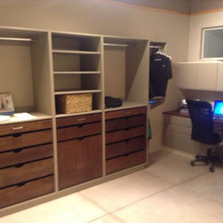 Custom Closet in Showroom, with work station -