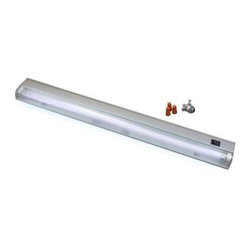 Amerelle - Amerelle 22.5 in. 14 Watt Nickel Slim Line Fluorescent Under Cabinet FA423KBAMCC - Shop for Lighting & Fans at The Home Depot. Whether you want to highlight a work of art, lend some drama to a kitchen, or just add additional light to work or task areas, Westek is your single source for your entire Accent and Cabinet Lighting needs. The 22.5 in. Slimline Series Plug-in Fluorescent Cabinet Light is ideal for designer kitchens, home office, studios, basements, workshops and more. With a super slim 1 in. profile, it hides behind most cabinet lips and provides an energy efficient way to light up any area.