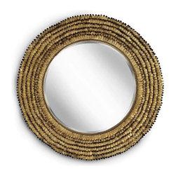Regina Andrew - Regina Andrew Gold Leafed Round Petal Mirror - Gold Leafed Round Petal Mirror by Regina Andrew.