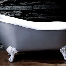 modern bathtubs Silvia Classic Slipper Bath Tub