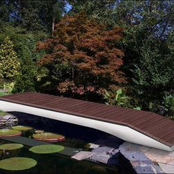 Fifthroom - Golden Glen Plank Bridge - This is a plank bridge that won't ever let you down.  The maintenance free composite decking is... well... just that, maintenance free!  Perma-trim covers the exterior beams, so this is a bridge you won't have to worry about.