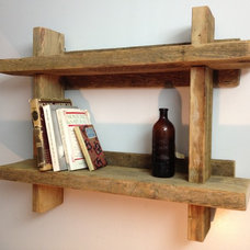 Eclectic Bookcases by Silver Fox Salvage Los Angeles