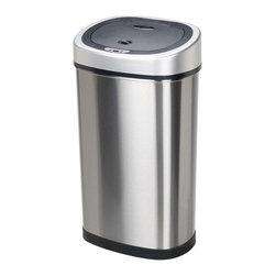 Nine Stars DZT-50-9 Infrared Touchless Stainless Steel Trash Can - For the person who doesn't want anything to do with trash, this is for you. The touch-free lid opens automatically. Just have someone else empty it for you, and you'll be good to go.