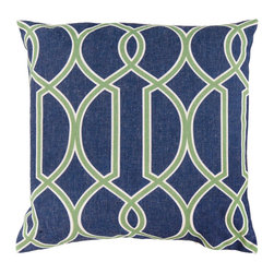 "Surya FF017-2222P 100% Polyester 22"" x 22"" Decorative Pillow - Add style and sophistication to any room with this simple design. This pillow has a polyester fill and zipper closure. Made in China with Polyester and Linen, this pillow is durable and priced right. Filler: Poly Fiber. Shape: Square"