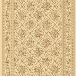 "Dynamic Rugs - Dynamic Rugs Rug, Ivory, 6' 7"" x9' 6"" - The Legacy Collection by Dynamic Rugs features persian styled rugs with 800,000 points with traditional colors."
