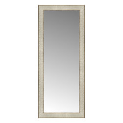 """Posters 2 Prints, LLC - 14"""" x 33"""" Libretto Antique Silver Custom Framed Mirror - 14"""" x 33"""" Custom Framed Mirror made by Posters 2 Prints. Standard glass with unrivaled selection of crafted mirror frames.  Protected with category II safety backing to keep glass fragments together should the mirror be accidentally broken.  Safe arrival guaranteed.  Made in the United States of America"""