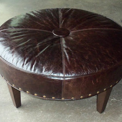 "Customer Custom Orders - King Hickory ""Buy the Inch"" Ottoman at Barnett Furniture in Trussville / Birmingham, AL."