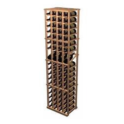 Designer Series Wine Rack - 4 Column Individual w/ Display - The 4 Column Individual Bottle with Display Row wine rack combines all the features of the standard 4 Column Individual Bottle wine rack with the added benefit of display rows. The 15 degree angle of the wine display row keeps the cork moist while allowing you to easily view the label. Each display rack is 4 columns wide x 19 rows high with 4 bottles of display. Product requires assembly. Please note: molding packages are available separately.
