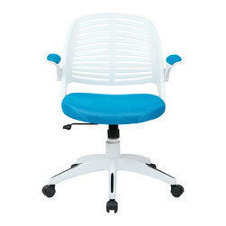 Ave Six - Tyler Office Chair, Blue - The Tyler Office Chair is an ergonomic mesh-back task and office chair produced by Ave Six of Office Star.  Available in 6 colors, ready to ship today!