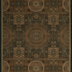 """Momeni - Momeni Encore EC-02 (Black) 5'3"""" x 7'9"""" Rug - Exquisite old world designs presented in monochromatic color stories, Encore suites the desires of the new traditionalists. Featuring a well-crafted one million point machine-made quality, Encore adds richness and warmth elevating any sophisticated environment. Made in Egypt, 100% polypropylene fibers."""