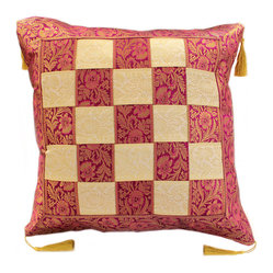 Game of Chess Pillow Cover, Set of 2, Creamy Plum