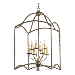 Antiqued Iron Cage Lantern