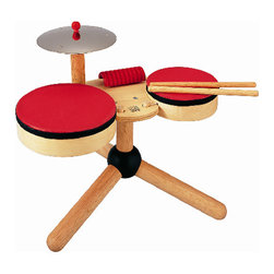 Musical Band Rhythm Set - Inspire your little musician and build hand-eye coordination with this modern drum set. Looks great in your child's room or in the main living space of your home due to its clean design.