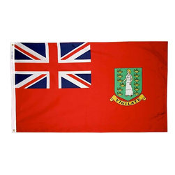 Flagline - British Virgin Islands - 3'X5' Nylon Flag (Red) - If you are a serious flag collector or if you plan on displaying your flag outdoors, you should consider our line of Nylon flags. Our Nylon flags are made of 100% Perma-Nyl Nylon, finished with canvas headings and brass grommets, primarily for outdoor use. Nylon flags are heavier than Polyester and stand up well to sun exposure. A Nylon flag provides a longer life of service and enjoyment.