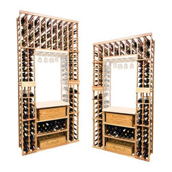 Wine Cellar Innovations - Vintner Series Wine Rack - Individual Bottle Wine Rack Kit - The Vintner Series individual bottle wine rack kit with display row option and lower case rack is sold to be compatible with the Vintner Archway & Table Top option, or the Vintner Glass Rack and Table Top Option. This wine racking module consists of all the above and below individual wine bottle racking for the unit as pictured. Please note that there is only an 8 Ft & a 7 Ft Option available for this unit. The 8 Ft Option is compatible with stacking double 4 Ft Options, and the 7 Ft Option is compatible with stacking 4Ft Options on the bottom, and 3Ft Options above. Archway & Table Top, & Glass Rack and Table Top kits sold separately. Moldings and platforms sold separately. Assembly required.