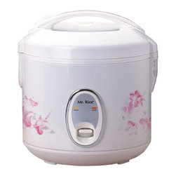 Compact - Compact 6-cup Rice Cooker - Cook various dishes with this rice cookerRice cooker steams rice, porridge, soup, stew and much moreRice steamer features one-touch operation and convenient carrying handle