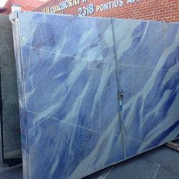 Royal Stone & Tile Slab Yard in Los Angeles - Blue Imperial Quartz from Royal Stone & Tile in Los Angeles
