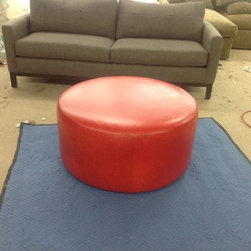 Red Ottoman - For a quote please visit www.thesofaworks.com or email us at thesofaworks@gmail.com