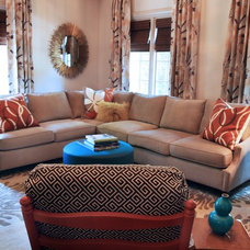 Eclectic Living Room by Lucy and Company