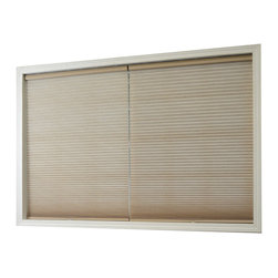 Chicology Cordless Cellular Shade Whisper Almond 27X72 - Chicology Cordless Cellular window shades are energy efficient, help to insulate your home and provide a timeless look for your window and room. In addition to providing privacy, the shades are also cordless and open and close with the gentle pull and push of your hand. All brackets / hardware included allow for mounting inside or outside your window frame with ease.