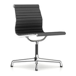 Herman Miller Eames Aluminum Armless Side Chair, Fabric
