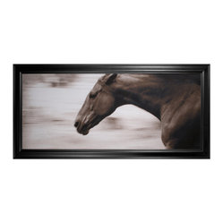 Galloping Horse Photo Wall Art, Framed