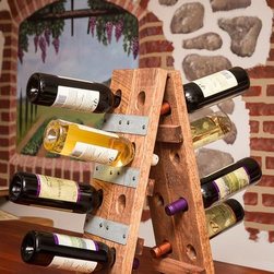 Napa East - Napa East Wine Barrel Small Folding 16 Bottle Riddling Wine Rack Multicolor - 10 - Shop for Wine Bottle Holders and Racks from Hayneedle.com! Convenient unobtrusive and visually appealing the Napa East Wine Barrel Small Folding 16 Bottle Riddling Wine Rack is an ideal wine rack for those special bottles in your collection. Perfect for bar-top placement this solid wood rack made from a reclaimed oak wine barrel holds up to 16 bottles.About Napa EastNapa East creates wine-inspired furnishings that are made from actual reclaimed oak wine barrels. Their barrels began life handcrafted with pride from the finest French and American Oaks and Napa East continues that theme when they hand-select barrels and giving them new life as beautiful one-of-a-kind works of art.