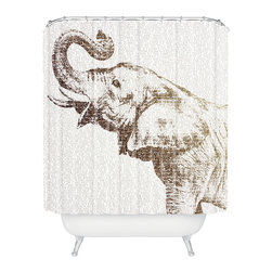 DENY Designs - Belle13 The Wisest Elephant Shower Curtain - Who says bathrooms can't be fun? To get the most bang for your buck, start with an artistic, inventive shower curtain. We've got endless options that will really make your bathroom pop. Heck, your guests may start spending a little extra time in there because of it!