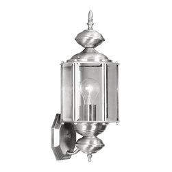 Livex Lighting - Livex Lighting 2006-91 Outdoor Basics Wall Light Brushed Nickel - -Finish: Brushed Nickel