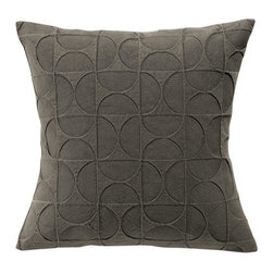 Vivaraise - Tom Throw Pillow, Graphite - Light cotton pique, tightly and densely woven, the Tom throw pillow is the perfect way to add subtle style to any room. Throw it on a couch or toss it on your bed. The versatility of the Tom throw pillows makes it the perfect addition to any room.