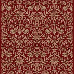 "Concord Global - Concord Global Jewel Damask Red 3'11"" x 5'7"" Rug (4940) - Jewel collection is machine-made in Turkey using 100% heat-set polypropelene. These traditional to contemporary rugs will make a colorful addition to any area."