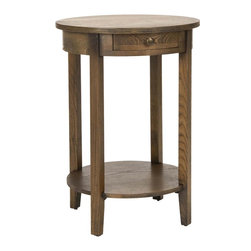 Safavieh - Hannah End Table - Simple pleasures. The Hannah End Table is a classic addition to any interior. Crafted with 100% elm wood, its petit wooden bodice adds warmth and character to contemporary interiors and brings pared down elegance to a traditionally styled room.