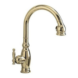 Kohler - Kohler K-690-SN Vibrant Polished Nickel Vinnata Kitchen Sink Faucet - The K-690 Kitchen sink faucet is designed to fashionably match your decor. The K-690-SN features solid brass construction for durability and reliability.