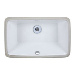 "Xylem - Xylem Vitreous China Rectangular Undermount Basin 19 Inch Sick (CUM198RWT) - Xylem CUM198RWT Vitreous China Rectangular Undermount Basin 19"" Inch Sick, White"