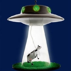 Alien Abduction Lamp - An Alien Abduction lamp can shed some light on extraterrestrial behavior — or, you know, on your desk.