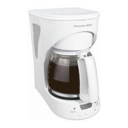 HAMILTON BEACH/PROCTOR SILEX - White 12-Cup Coffeemaker - 12-Cup Programmable Coffeemaker