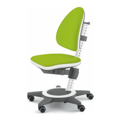 Moll - Champion Kids Maximo Desk Chair, Lime Green - Designed to grow with your child, this desk chair is fully adjustable to fit every stage of your child's development. The backrest height, seat height and seat depth can be adjusted independently with a touch of a lever. The backrest and seat are ergonomically shaped to support your child comfortably. A wide five-armed base provides stability and prevents the chair from tipping.