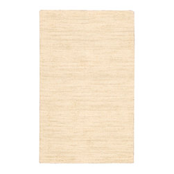 "Waverly - Waverly 10 Grand Suite WGS01 2'3"" x 3'9"" Cream Area Rug 20172 - The Ottoman design Waverly rug by Nourison is a versatile hand-loomed wool rug with a fabulous textured, wonderful to look at and a pleasure to walk on In an elegant shade of cream infused with an exciting interplay of light and shadow to create an invitingly intimate environment with a fashion-forward flair."